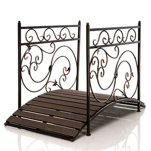Мост декоративный металл и террасная доска 862-26R - фото 92813