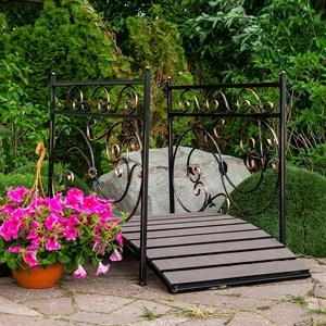 Мост декоративный металл и террасная доска 862-26R - фото 92815