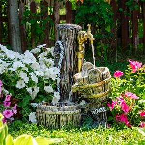 Умывальник садовый с бочкой малый U08934