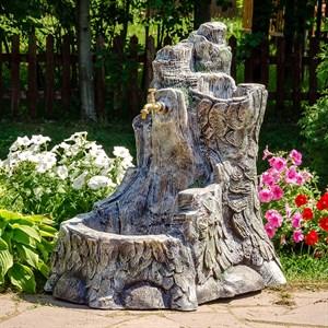 Умывальник садовый Пень с кашпо U08970