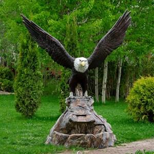Фонтан для сада Орел на камнях U08957