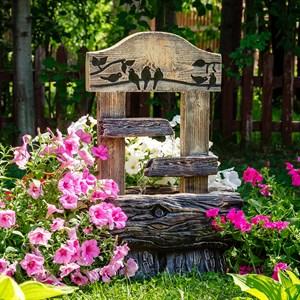 Фонтан для сада каскадный с птичками U08944
