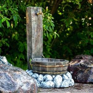 Умывальник с деревянной кадкой U08206