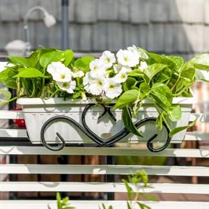 Подставка под балконный ящик 50см навесная 51-406