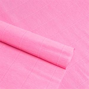 Бумага гофрированная простая светло-розовая 180г 549