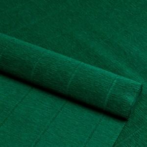 Бумага гофрированная простая хвойно-зеленая 180г 561