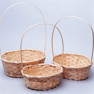 Набор корзин плет бамбук 27*21*10/38см 3 шт натуральный