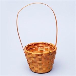 Корзина плетеная бамбук 13*9,5 28см желтый