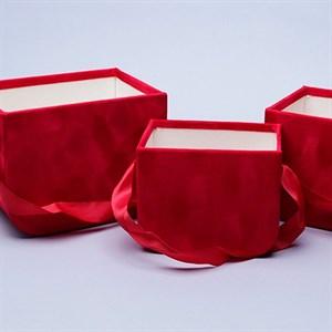 Коробка-сумка набор из 3шт 17*12,5*13см красный
