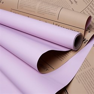 Пленка матовая 60*10м газета крафт розовый