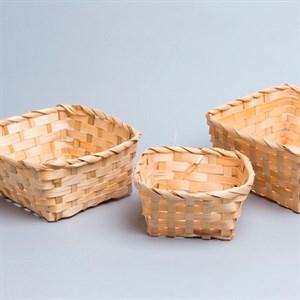 Набор кашпо бамбук квадрат 19*19*9см 3шт
