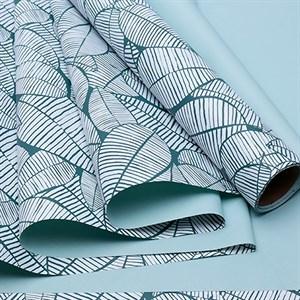 Пленка матовая 60*10м листья изящные зеленая