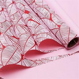 Пленка матовая 60*10м листья изящные красная