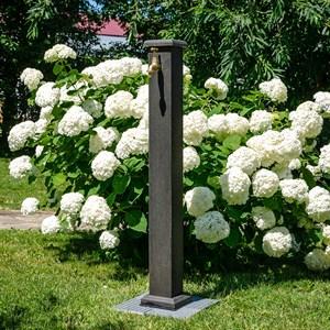 Колонка садовая ДПК темное дерево 55-106