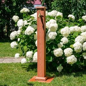 Колонка садовая ДПК светлое дерево 55-105