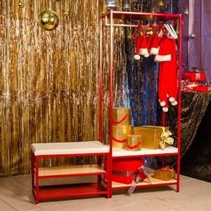 Обувница Лофт металл красная 66-803