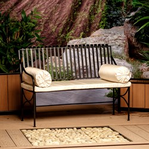 Диван кованый с мягким сиденьем 941-10