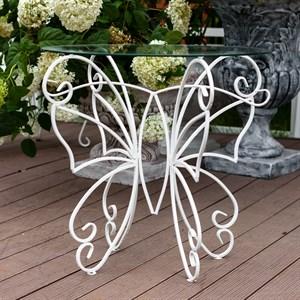 Стол Бабочка стекло с металлом 352-23