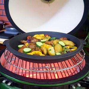Сковорода-крышка чугунная литая 330*40