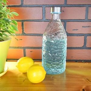 Бутылка стеклянная с крышкой 1,2л