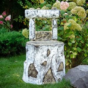 Кресло садовое Пень березовый стеклопластик U08853