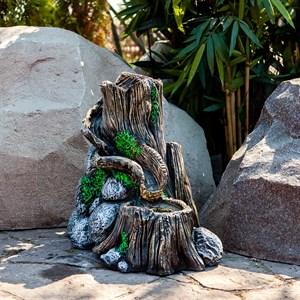 Фонтан садовый каскадный Два пня F08492