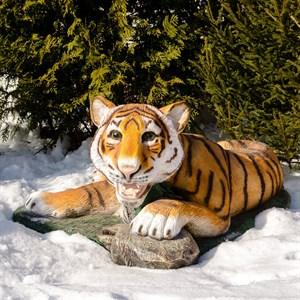 Фигура Тигр лежит стекопластик U08921