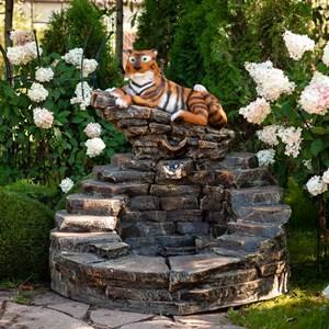 Фонтан садовый Тигр на камнях U08704