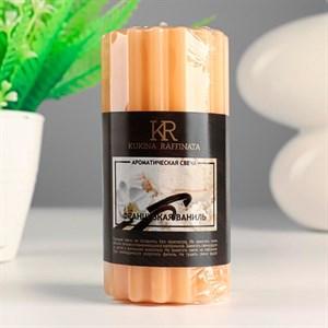 Свеча ароматическая Рельеф 5х10см французская ваниль
