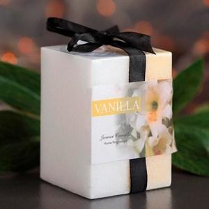 Свеча куб Кристаллический узор 5*7,5см ваниль