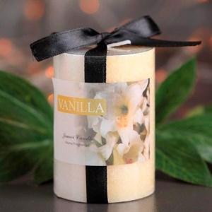 Свеча цилиндр Кристаллический узор 5*7,5см ваниль