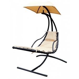 Кресло подвесное Лаура ZRB05 бежевое с бежевой подушкой