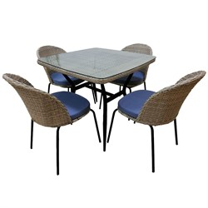 Набор мебели Эмилия с подушками Т-542/Y-517 бежевый и серый Garden story