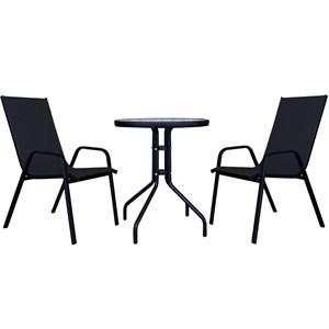 Набор мебели Сан-Ремо мини черный ZRC032, WR1215-МТ003