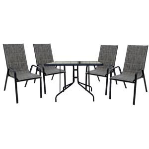 Набор мебели Сан-ремо 2 мягкий темно-серый 4567-МТ002