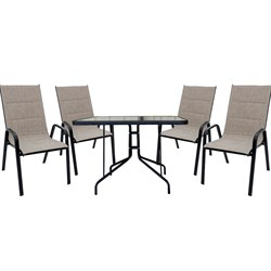 Набор мебели Сан-ремо 2 мягкий серо-бежевый 4567-МТ001