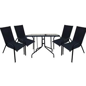 Набор мебели Сан-Ремо 2 черный ZRC032, ZRTA003-МТ003