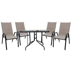 Набор мебели Сан-Ремо 2 серо-бежевый ZRC032, ZRTA003-МТ001