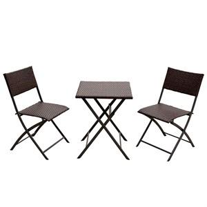 Набор мебели Романтика складной черный, без м/э 51236+5793
