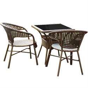 Набор мебели Монреаль мини New черный, коричневый Garden story Т-97В, у-461