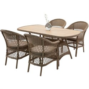 Набор мебели Медисон Madison коричневый/коричневый