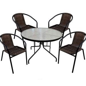 Набор мебели Марсель коричневый Garden story WR2719, ZRTA053