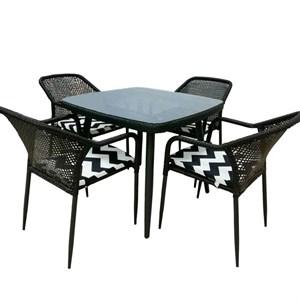 Набор мебели Ливорно с подушками темно-коричневый, черный, белый Garden story 521
