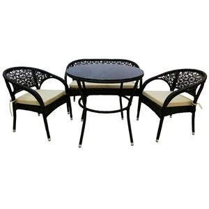 Набор мебели Кристина темно-коричневый, бежевый Garden story S117