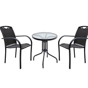 Набор мебели Кафе 5-мини коричневый, без м/э Garden story МТ-НКМ-001