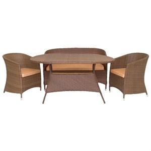 Набор мебели Верона коричневый/коричневый CV003