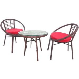 Набор мебели Амальфи коричневый, красный SR003