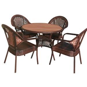 Набор мебели Аликанте New коричневый Garden story NA295а-МТ002