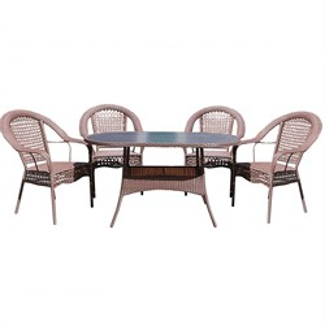 Набор мебели Аликанте New черный, коричневый
