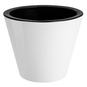 Кашпо Классика 5л белый/черный
